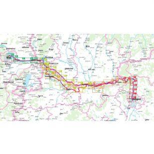 Danube Bike Trail 3 Vienna- Budapest Bikeline Fietsgids