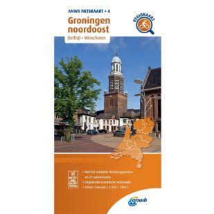ANWB Regiokaart 4 Groningen noordoost