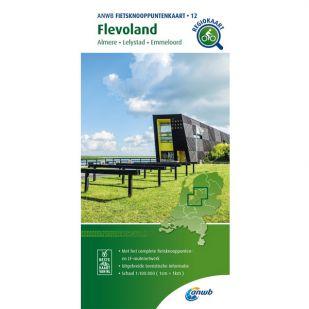 ANWB Fietsknooppuntenkaart 12 Flevoland