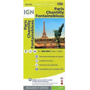 IGN 190 Paris/Chantilly/Fontainebleau
