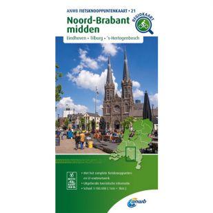 ANWB Fietsknooppuntenkaart 21 Noord Brabant midden