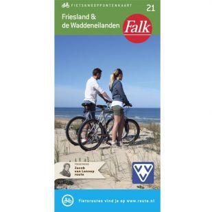 Falk Fietsknooppuntenkaart 21: Friesland & De Waddeneilanden