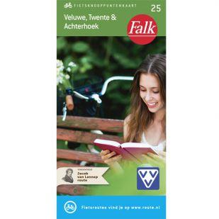 Falk Fietsknooppuntenkaart 25: Veluwe, Twente & Achterhoek