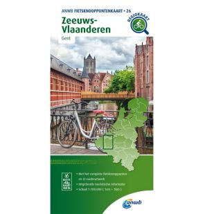 ANWB Fietsknooppuntenkaart 26 Zeeuws Vlaanderen - Gent binnenland