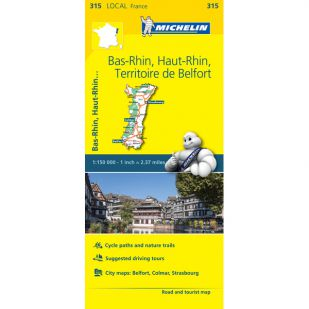 Michelin 315 Bas-Rhin, Haut-Rhin, Territoire-De-Belfo