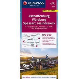 KP3351 Aschaffenburg - Würzburg - Spessart - Maindreieck