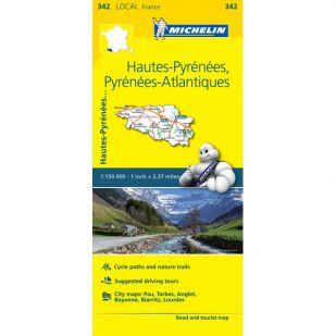 Michelin 342 Hautes-Pyrénées, Pyrénées Atlantiques