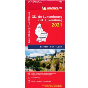 Michelin Wegenkaart 717 - Luxemburg 2021