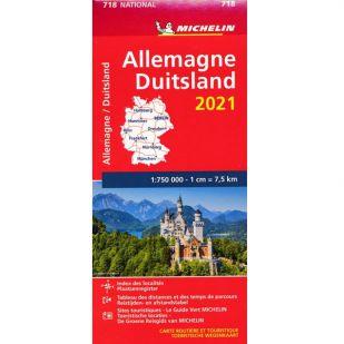 Michelin Wegenkaart 718 - Duitsland 2021