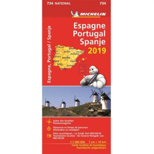 Michelin 734 Spanje & Portugal