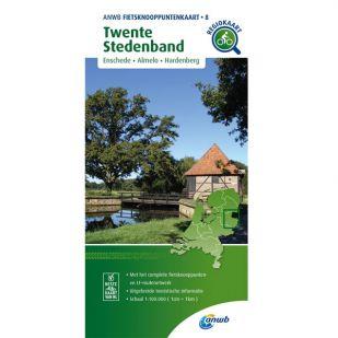 ANWB Fietsknooppuntenkaart 08 Twente stedenband