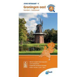 ANWB Regiokaart 9 Groningen oost