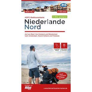 Niederlande Nord Radtourenkarte