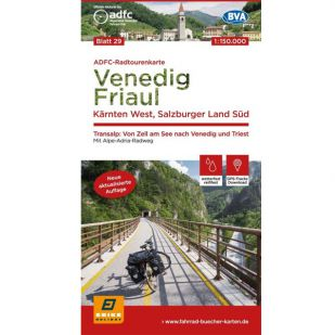 ADFC Radtourenkarte 29. Venedig - Friaul - Karnten