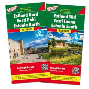 F&B Estland Noord en Zuid (2 kaarten - dubbelzijdig)