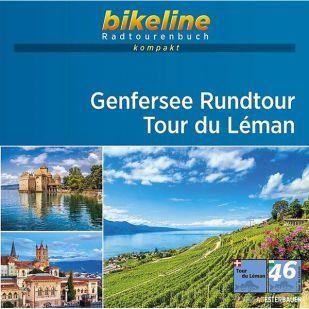 Genfersee Rundtour - Tour du Léman Bikeline Kompakt Fietsgids