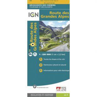 IGN fietskaart - Route des Grandes Alpes