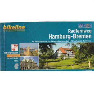Radfernweg Hamburg - Bremen Bikeline Fietsgids