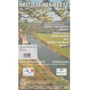 Hastiere-sur-Meuse wandel- en MTB-kaart