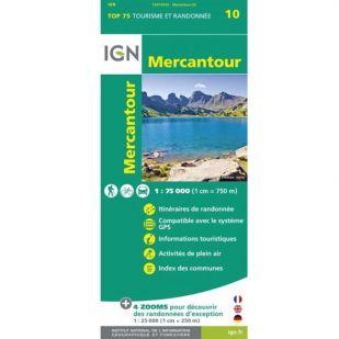 IGN Mercantour  (10) - Wandel- en Fietskaart
