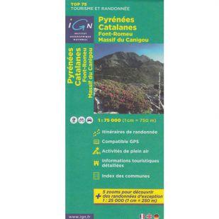 IGN Provence (21):  Pyrenees Catalanes, Font Romeu, Massif Canigou  - Wandel- en Fietskaart