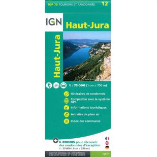 IGN Parc naturel régional Haut-Jura (12) - Wandel- en fietskaart