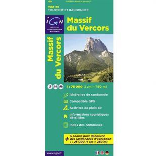 IGN Massif du Vercors (01) - Wandel- en fietskaart