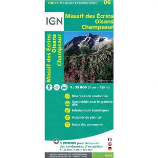 IGN Oisans Champsaur - Massif des Ecrins (06) - Wandel- en fietskaart