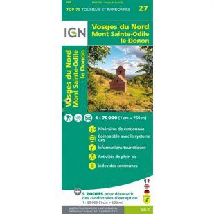 IGN Vogezen (27) - Vosges du Nord  - Wandel- en Fietskaart !
