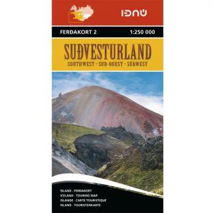 IJsland zuid-west Ferdakort