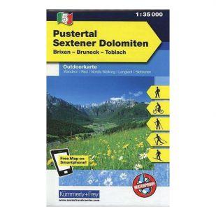 KF5 Pustertal Sextener Dolomiten Outdoorkaart