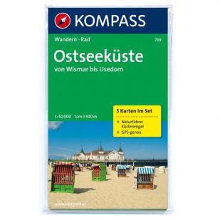 KP739 Ostseeküste Von Wismar Bis Usedom, 3 Karten