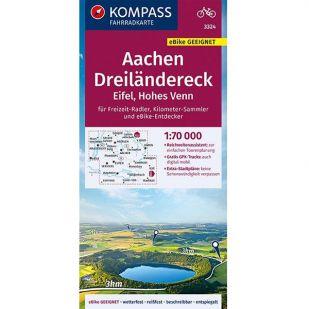 KP3324 Aachen Dreilandereck - Eifel - Hohes Venn