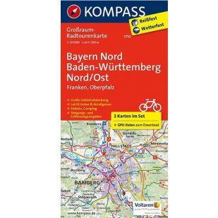 KP3710 Radkarte Bayern Nord, Baden-Württemberg Nord/Ost !