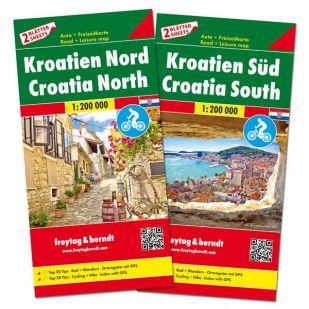 F&B Kroatië Noord en Zuid (2 kaarten - dubbelzijdig)