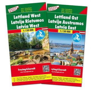 F&B Letland Oost en West (2 kaarten - dubbelzijdig)
