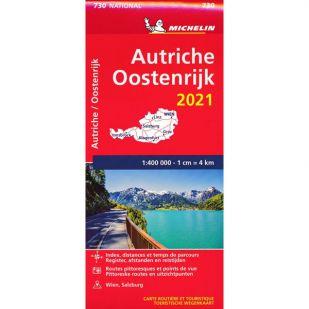 Michelin Wegenkaart 730 - Oostenrijk 2021