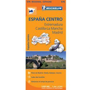 Michelin 576 Extremadura, Castilla - La Mancha, Madrid