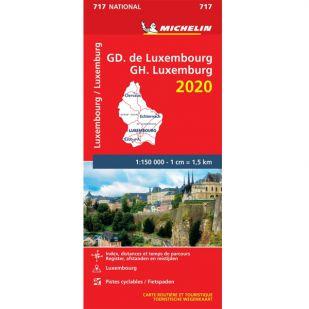 Michelin Wegenkaart 717 - Luxemburg 2020