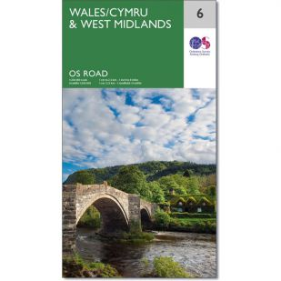 OS Road Map 6: Wales and West-Midlands
