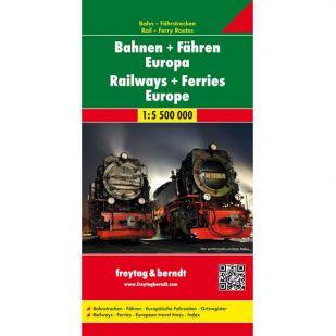 F&B Bahnen + Fähren Europe, spoorwegen en veerboten Europa