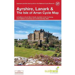 37. Ayrshire, Lanark & The Isle of Arran Cycle Map