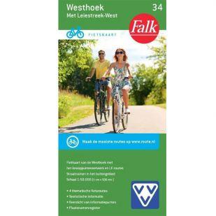 Fietskaart 34 Westhoek met Leiestreek West (2019) !