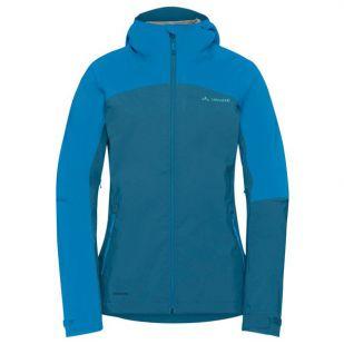 A - Vaude Women's Moab Rain Jacket - blauw