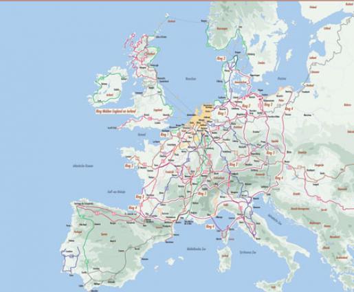 Fietsrouteplanners en Fietsroutes Europa